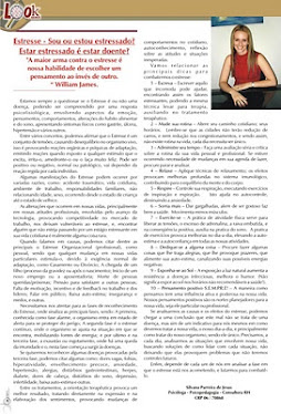 Revista Look - Matéria Estresse