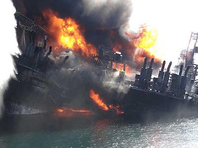 cayendo2 Fotos del desastre en el Golfo de México