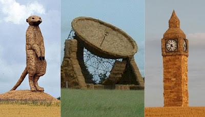 esculturaspaja Esculturas de paja de 10 metros de altura