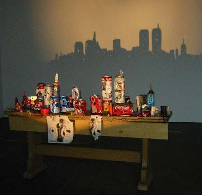 ciudad Arte con las sombras de basura