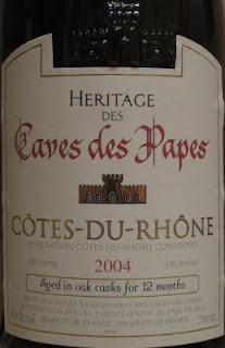 Caves des Papes Cotes du Rhone Heritage des Caves des Papes