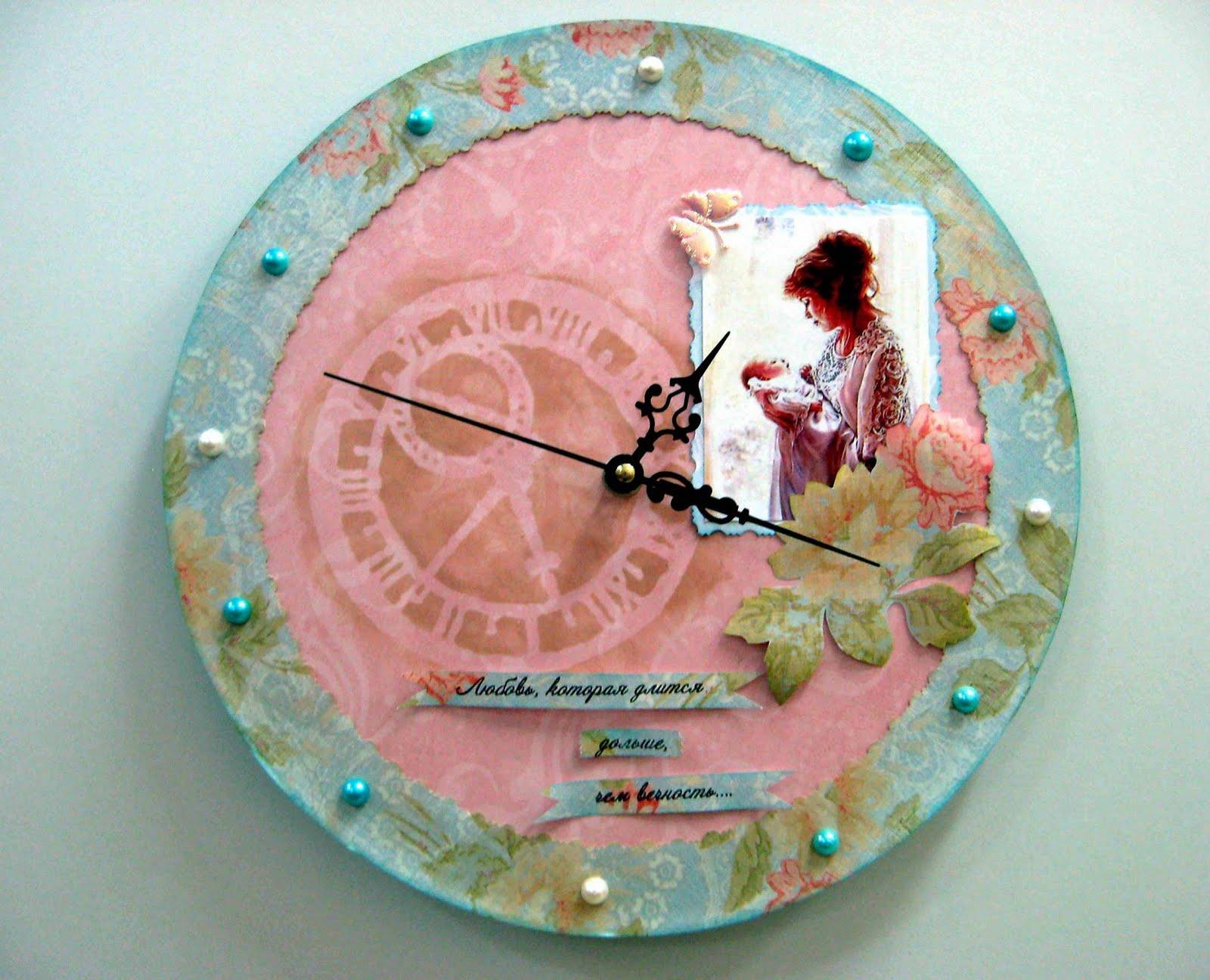 Скрапбукинг часы своими руками