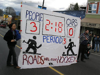 Roads Are For Hockey banner
