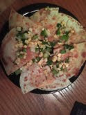 cheese quesadillas and corn salsa