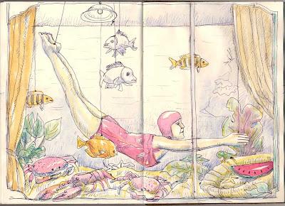 Vintage Fashion Sketches on Another Fantastic Window Display At Bygones Vintage Clothing