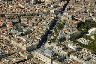 Bordeaux vue aérienne du Grand Théatre place de la Comédie