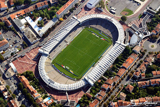 Vue aerienne du stade Lescure (Chaban Delmas) a Bordeaux