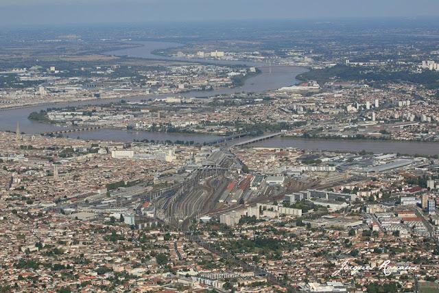 vue aerienne de Bordeaux