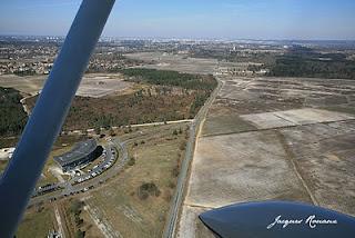 vue aerienne de la technopole de Montesquieu à Martillac