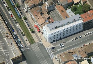 vue aérienne hôtel Seekoo Bordeaux