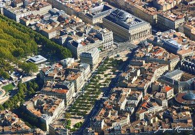 Vue aérienne des Allées de Tourny et du Grand Théâtre