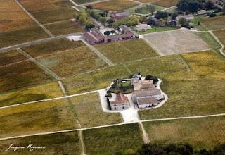 Vue aerienne chateaux de France et Fieuzal