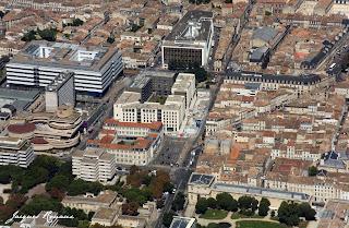 Photo aérienne de Bordeaux entre Mériadeck et centre historique de Bordeaux
