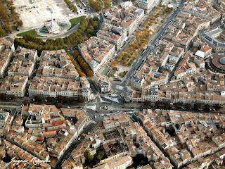 Vue aérienne des Allées de Tourny à Bordeaux