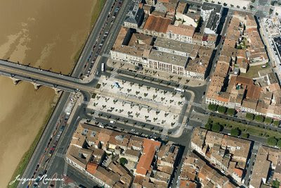 Photo aerienne de la Place Stalingrad à Bordeaux
