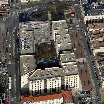 Photo aérienne détaillée du nouvel immeuble de l'îlot Bonnac