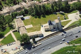 Photo aérienne du château du Prince Noir à Bordeaux
