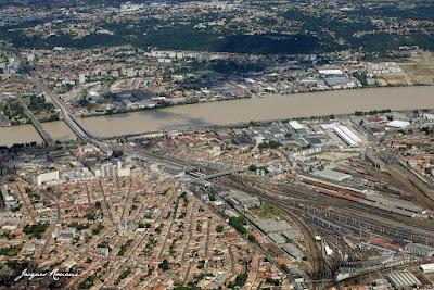 vue aérienne du quartier Saint Jean Belcier