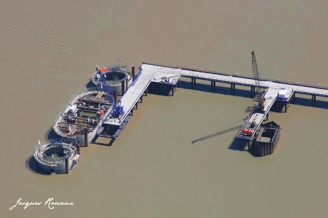 vue aérienne chantier pont Bacalan Bastide à Bordeaux