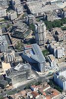 vue aérienne chantier immeuble Conseil Général à Bordeaux