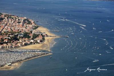 vue aérienne du Bassin d'Arcachon