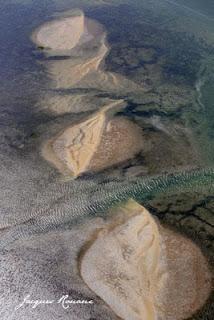 Vue aérienne du Bassin d'Arcachon au large de Biganos