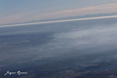 Vue aérienne de la chaine des pyrénées