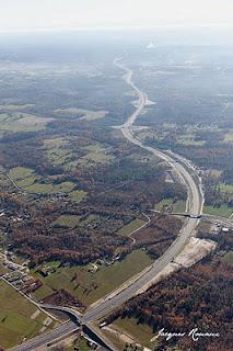 Photo aérienne de l'autoroute Langon Pau