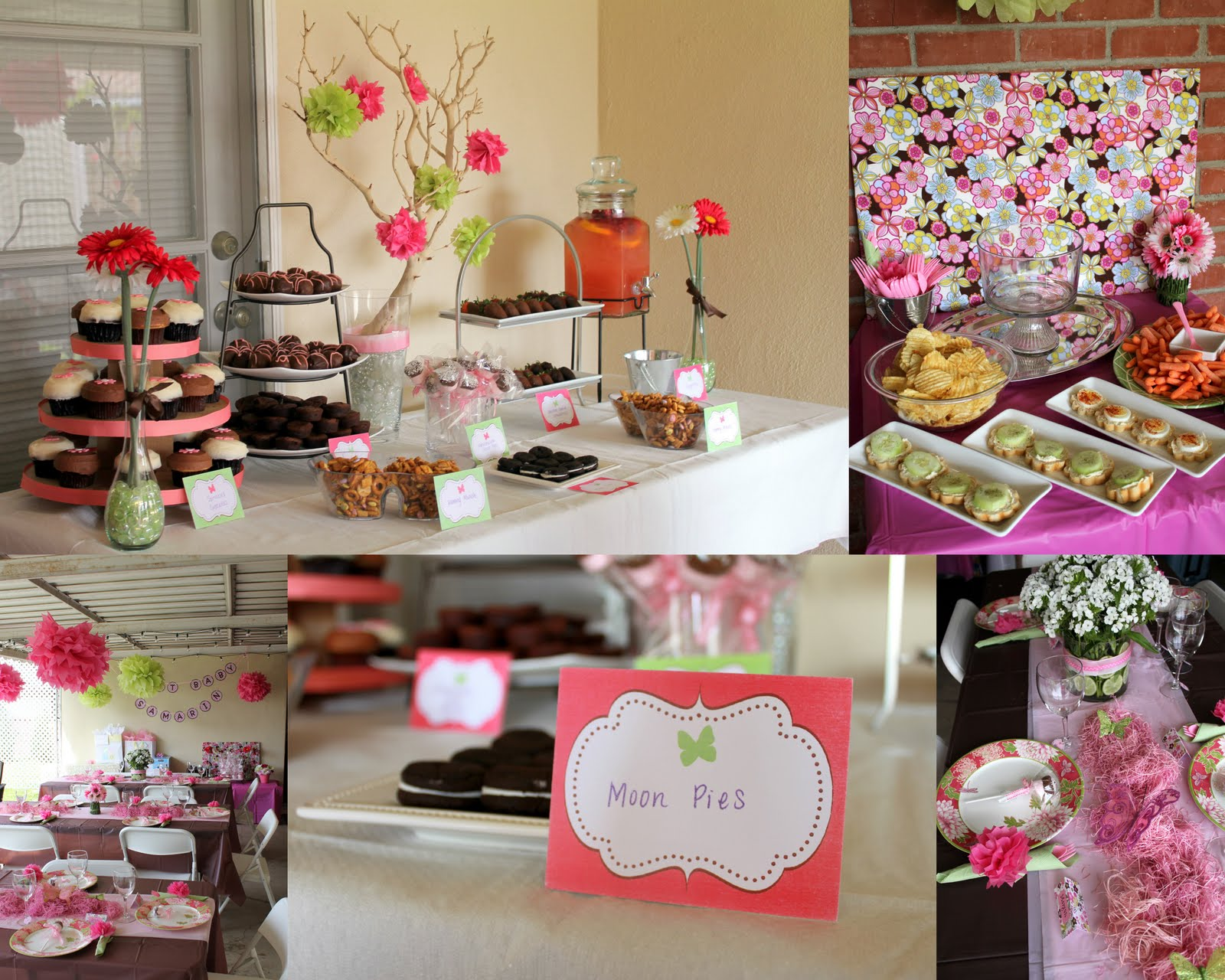 Pink baby shower party favors ideas - Pink baby shower table decorations ...