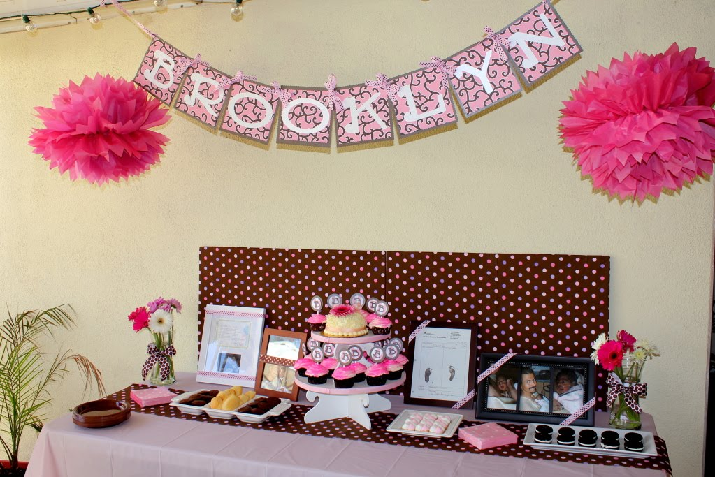 Whimsy & Wise Events: Pink & Brown Polka Dot Baby Shower: A little