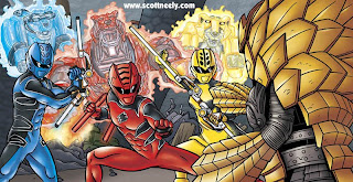 Scott Neely S Scribbles And Sketches Power Rangers