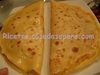 Crêpes crespelle ricetta base