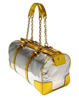Lanvin Metallic Bowler Handbag