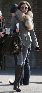 original prada bag - Celeb bag spotting: Victoria Beckham with the Prada Napa Fringe ...