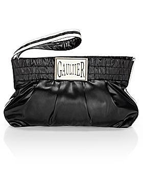 Jean Paul Gaultier Satin Boxing Pochette at eLuxury
