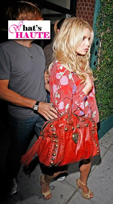 Jessica Simpson with Gucci Boston bag