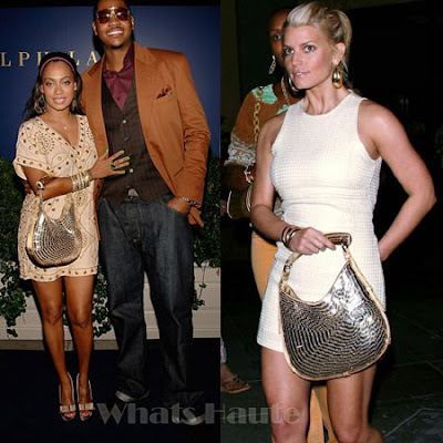 Celeb Spotting: Jessica Simpson and Lala Vasquez with the Yves Saint Laurent 'Mombasa' Purse