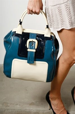 Orla Kiely Women's Tonal Patent Leather Handbag