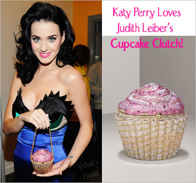 Celebrity Handbag Spotting: Katy Perry with the Limited-Edition Strawberry Cupcake Clutch