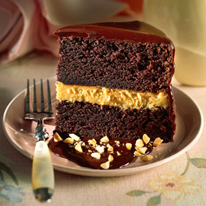 The Feisty Fork: Chocolate Peanut Butter Mousse Cake