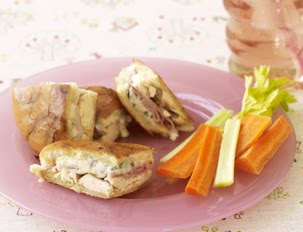 The Feisty Fork: Chicken Cordon Blue Panini