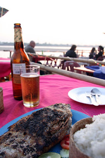 我的晚餐,烧鱼和beerlao