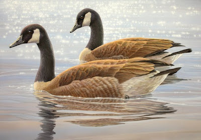 Canada Geese, Federal Duck Stamp entry by Shari Erickson
