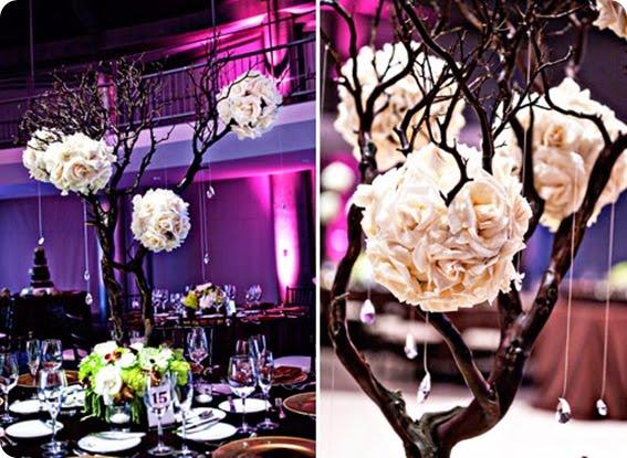 Chelsea gets married centerpieces - Branche deco vase ...