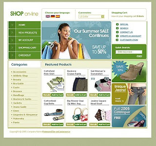 Template of shoes store