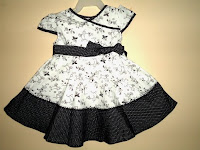 Dress Baby Aliza Hitam Putih