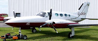 Cessna 421 plane