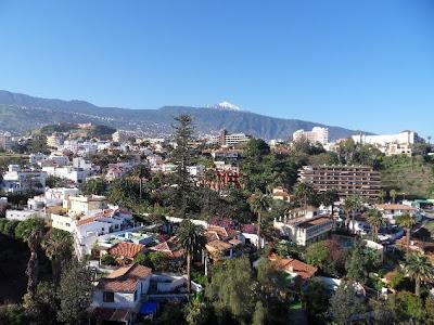 View of snow topped Mount Teidi