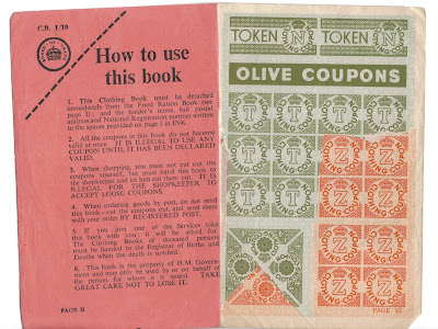 Clothing coupons ww2