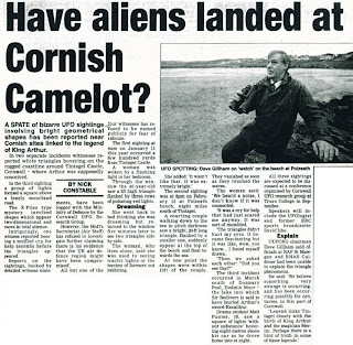 Cornwall UFO clipping